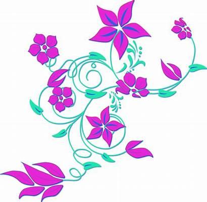 Purple Flower Border Clipart Clipartpanda Clip Flowers