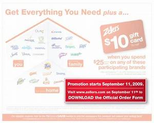 Zellers Canada Spend $25 on P&G Products and get a $10 ...