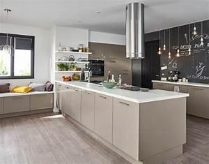 cuisine taupe 51 suggestions charmantes et tres tendance With idee deco cuisine avec modele cuisine en l
