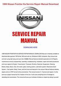 1999 Nissan Frontier Ka Service Repair Manual By