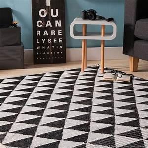 Tapis D Extérieur Plastique : tapis en plastique losanges noir et blanc 200x290 ~ Teatrodelosmanantiales.com Idées de Décoration