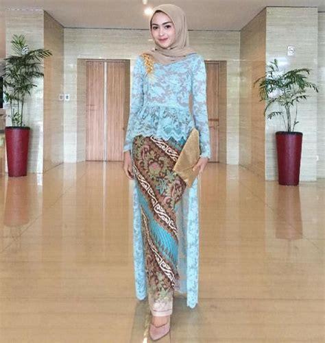 gaya fashion kebaya 10 referensi kebaya muslim untuk wisuda tetap cantik tapi