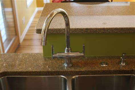 maple kitchen with granite countertops contemporary
