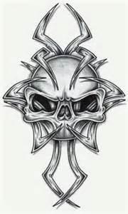 Tribal Skull Tattoo Stencils