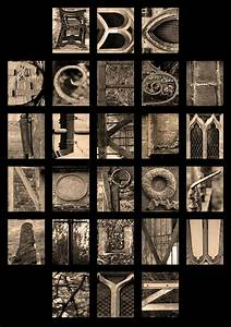 alphabet letters of the alphabet made from objects found With pictures of letters made from objects