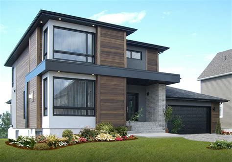 modern  story house   facade cladding design