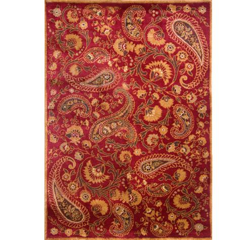 home dynamix paisley red  ft     ft   area rug  hd   home depot