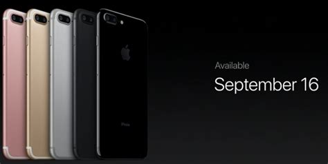 iphone 7 launch date apple iphone 7 and 7 plus price and release date on