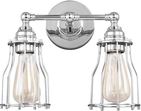 feiss vs24002ch calgary modern chrome 2 light bathroom
