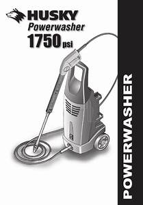 Husky Pressure Washer 1750 Psl User Guide