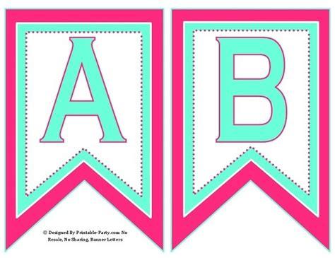 swallowtail pink aqua green printable banner le