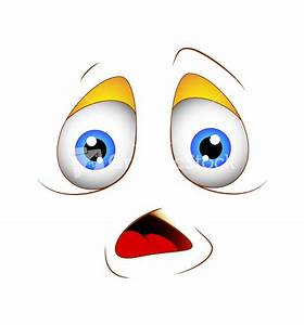 Cartoon Scared Face Expression Stock Image