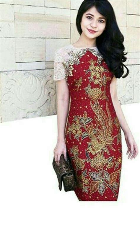 batik brokat kombinasi  indah model baju wanita