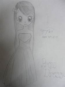 Girl wearing a Prom Dress by MangaLoverAnime on DeviantArt