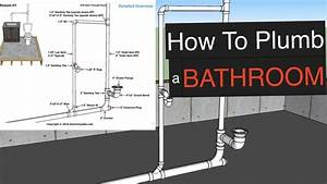 How To Plumb A Bathroom  With Free Plumbing Diagrams