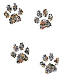 Free Paw Print Heart Shape Collage