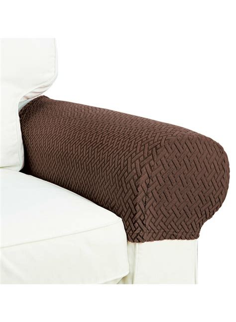 Sofa Arm Covers by Armrest Covers Stretchy Set Chair Or Sofa Arm Protectors