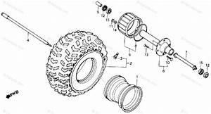 Honda Atv 1985 Oem Parts Diagram For Front Wheel