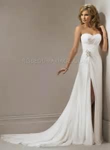 prix mariage robe de mariage en mousseline a ligne agrémentée une fente robe202475 robedumariage
