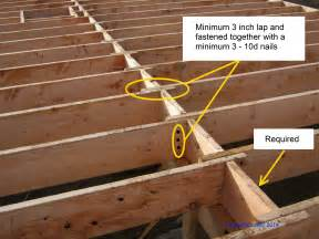 building code requirement floor joists inspect2code