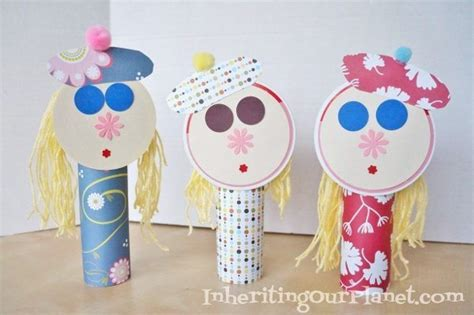 recycled paper dolls diy inspired