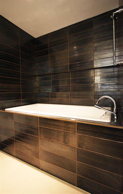 black tile bathroom ideas bathroom remodeling 5 bathroom tile ideas from portland