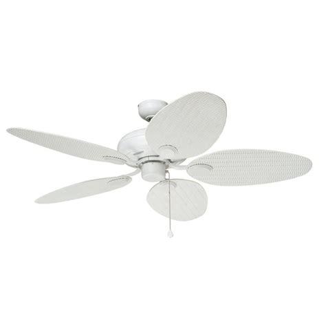 lowes flush mount white ceiling fans shop harbor breeze tilghman 52 in matte white outdoor