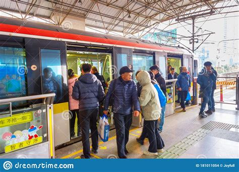 Shanghai hotels and places to stay. Train Shanghai Metro Station Undergorund Editorial Stock ...