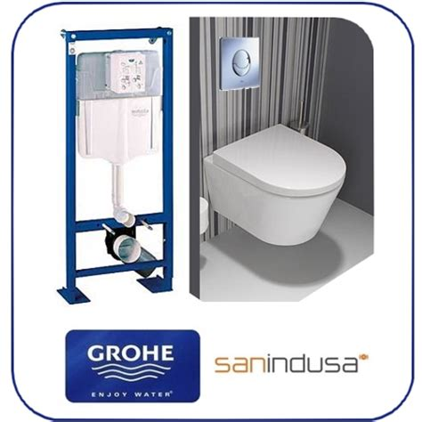 pack wc suspendu b 226 ti support grohe cuvette courte city grohe sanindusa salle de bain 12 cf