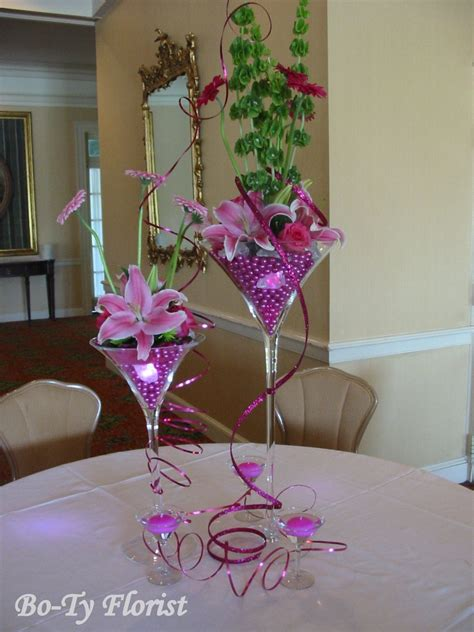 Fun Party Centerpiece Idea Hot Pink And Lime Green