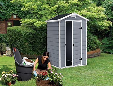 vertical garden shed keter manor vertical 4 x 3 ft resin outdoor garden storage