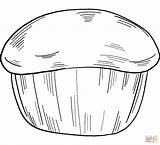 Coloring Muffin Printable sketch template
