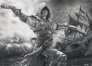 Assassin's Creed Black Flag Drawing
