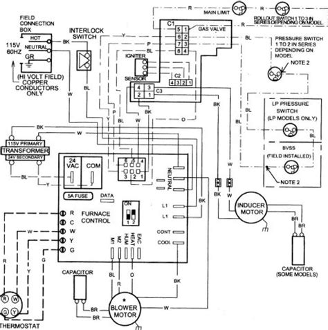 Wiring Diagram For Ga Furnace by Heat Thermostat Wiring Diagram Get Free Image About
