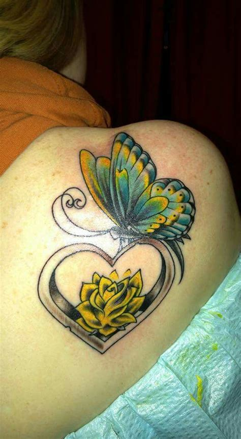 yellow butterfly tattoo ideas  pinterest