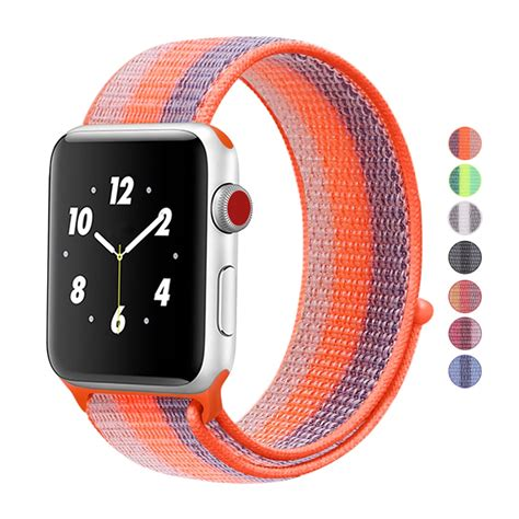 woven nylon sports strap sport loop band  apple