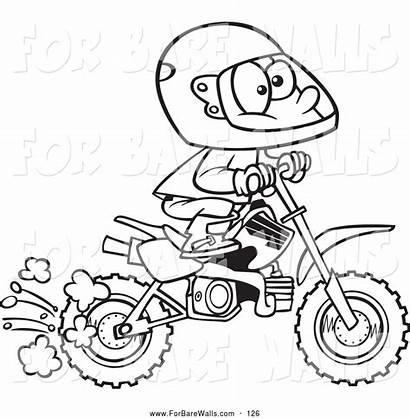 Dirt Coloring Bike Pages Printable Honda Cartoon