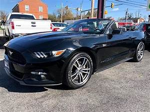 Used 2016 Ford Mustang EcoBoost Premium Convertible for Sale in Baltimore MD 21215 Autoleader