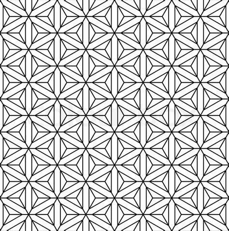 Seamless geometric op art texture Hexagons diamonds