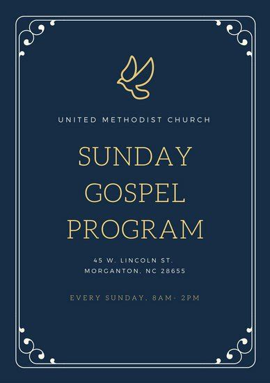 customize  church program templates  canva