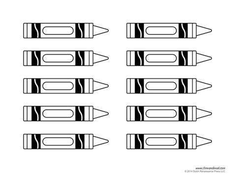 crayon labels template crayon template