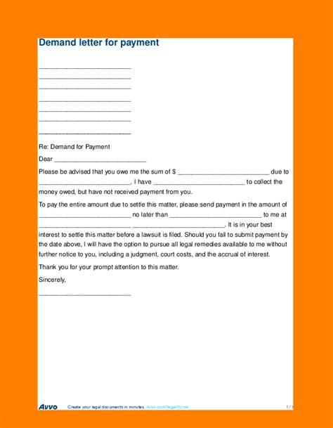 demand letter  money owed sales slip template
