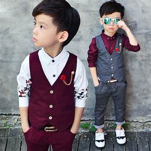 2016 new children39s formal sets two pics wedding suits for With baby boy dress clothes wedding