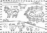 Farm Coloring Pages Activities Animals Printable Printables Kid Hen Pig Field Crafts Diy sketch template