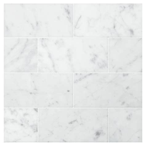 Kitchen Tile Backsplash Ideas - carrara honed 3 quot x 6 quot natural stone marble subway tile