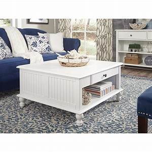 international concepts cottage beach white square coffee With beach cottage coffee table