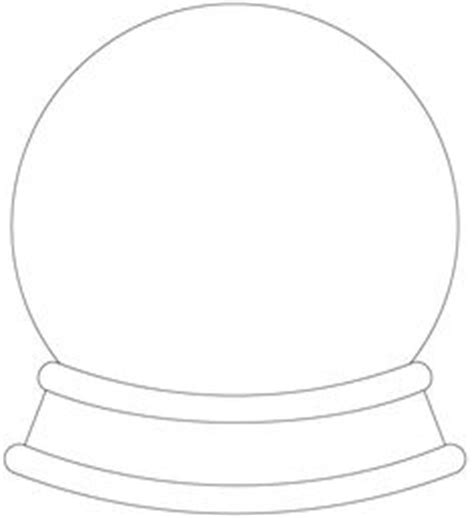 snow globe template pin by muse printables on printable patterns at patternuniverse outlines