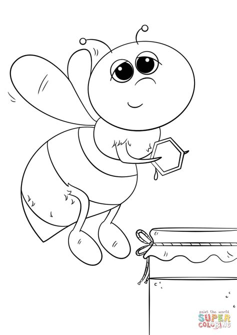 bee coloring page honey bee coloring page free printable coloring