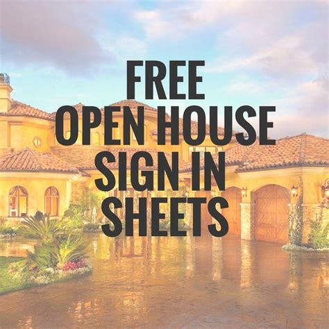 open house sign  sheet printable templates  ready