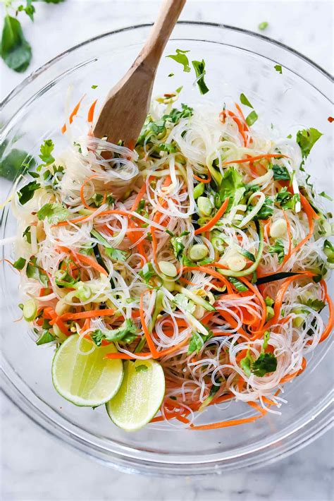 easy noodle salad fresh and easy vietnamese noodle salad foodiecrush com
